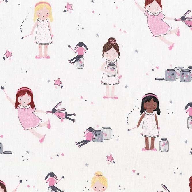 Twinkle Fairies Sprinkle, Sprinkle Little Stars by Michael Miller Fabrics 1