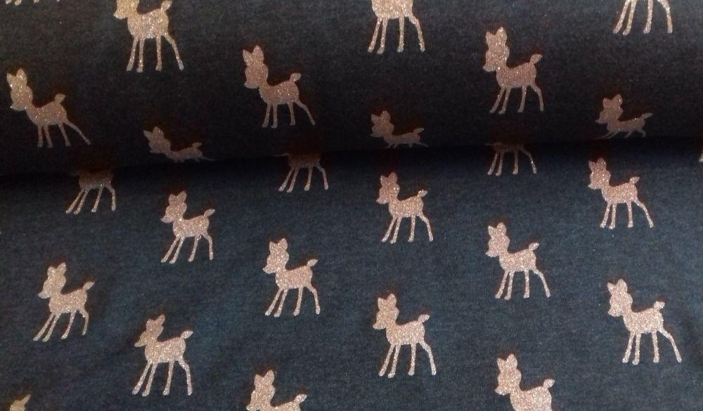 Dazzling Deers Denim Jersey by John Louden