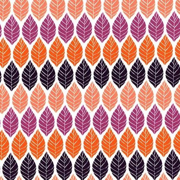 Rustique Leaf Press Plum by Michael Miller 100% Cotton 34 x 110 cm