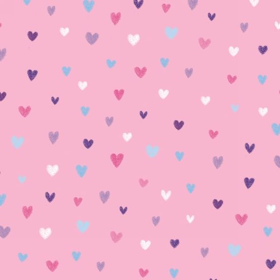 Unicorn Kisses Hearts Pink by Studio E Fabrics 100% Cotton