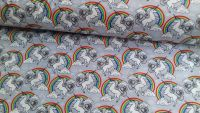 Unicorns & Rainbows Silver by Rose & Hubble 100% Cotton