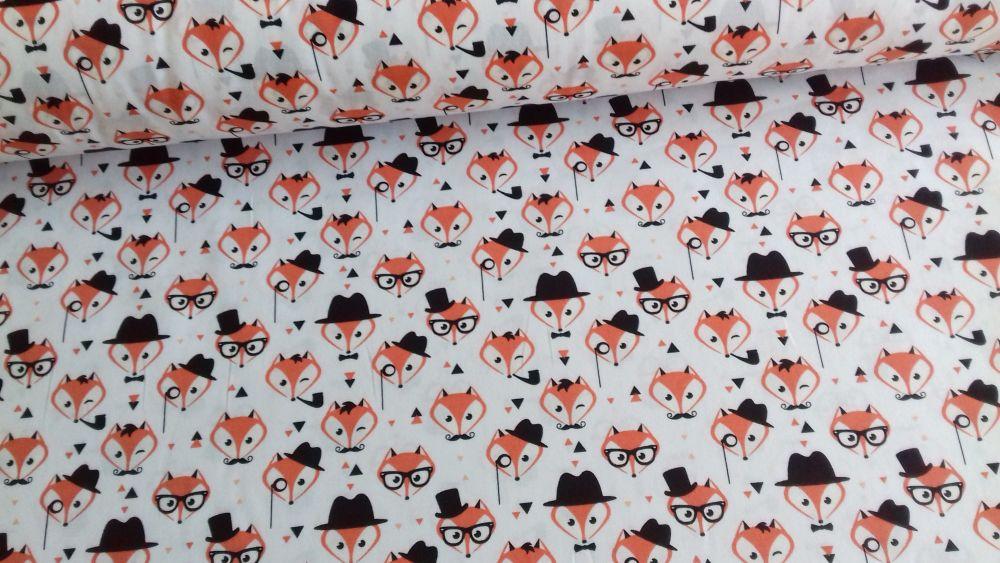 Fancy Foxes by Rose & Hubble 100% Cotton