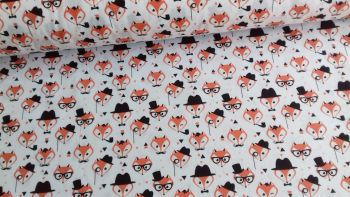 Fancy Foxes by Rose & Hubble 100% Cotton