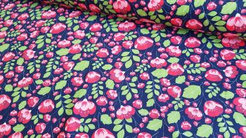Gabriella Floral on Navy by Rose & Hubble 100% Cotton