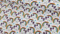 Unicorns & Rainbows White by Rose & Hubble 100% Cotton
