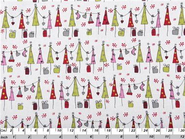 Day Before Xmas White by Copenhagen Print Factory 100% Cotton 49 x 112 cm