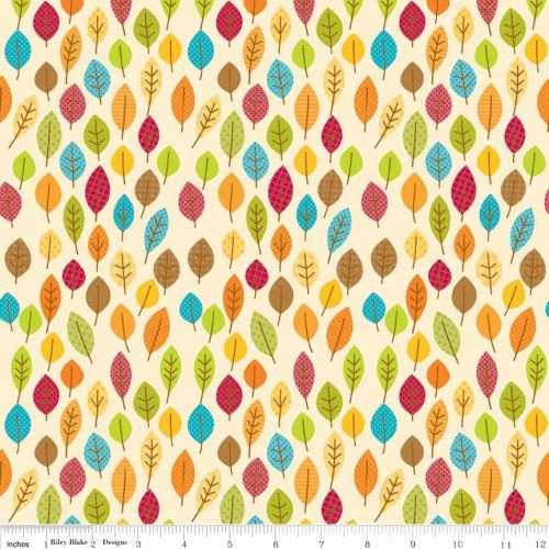 Happy Harvest Leaves Cream by Riley Blake 100% Cotton 49 x 53 cm