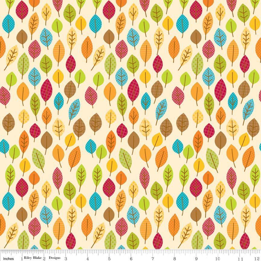 Happy Harvest Leaves Cream by Riley Blake 100% Cotton 49 x 53 cm
