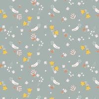 Emi & The Bird Birds Grey by Dashwood Studio 100% Cotton