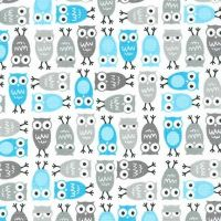 Urban Zoologies Minis Owls Sky by Robert Kaufman Fabrics 100% Cotton