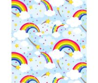 Emelia's Dream Rainbow Clouds by Blank Quilting 100% Cotton