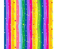 Emelia's Dream Rainbow Wavy Stripe by Blank Quilting 100% Cotton