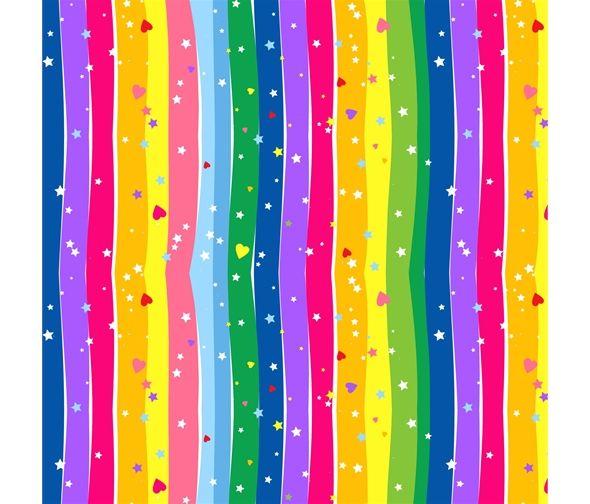 Emelia's Dream Rainbow Wavy Stripe by Blank Quilting 100% Cotton