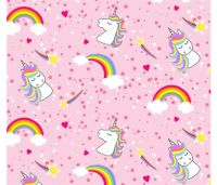 Emelia's Dream Unicorns Rainbows Pink by Blank Quilting 100% Cotton