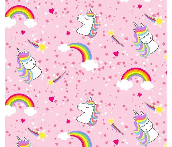Emelia's Dream Unicorns Rainbows Pink by Blank Quilting 100% Cotton