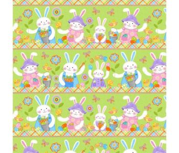 Carrot Patch Garden Bunnies by Studio E Fabrics 100% Cotton