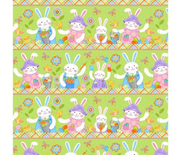 Carrot Patch Garden Bunnies by Studio E Fabrics 100% Cotton