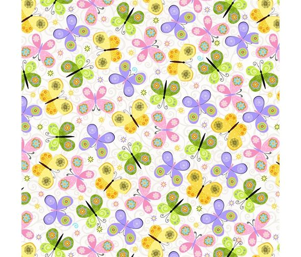 Carrot Patch Butterflies by Studio E Fabrics 100% Cotton