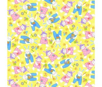 Carrot Patch Bunnies & Eggs by Studio E Fabrics 100% Cotton