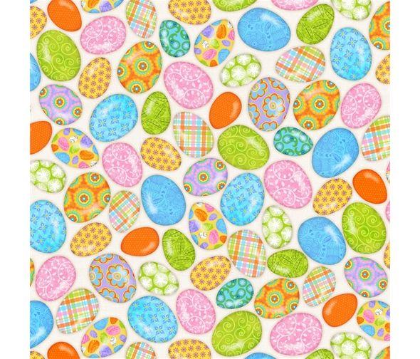 Carrot Patch Eggs by Studio E Fabrics 100% Cotton