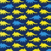 Prehistoric Pals Dinosaurs Navy Blue by Robert Kaufman Fabrics 100% Cotton