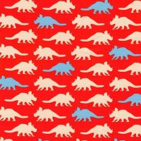 Prehistoric Pals Dinosaurs Red by Robert Kaufman Fabrics 100% Cotton