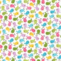 Urban Zoologies Minis Spring Birdies by Robert Kaufman Fabrics 100% Cotton