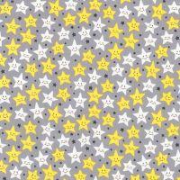 Daydreamer Stars Grey by Robert Kaufman Fabrics 100% Cotton