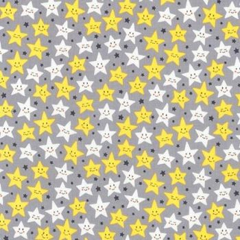 Daydreamer Stars Grey by Robert Kaufman Fabrics 100% Cotton
