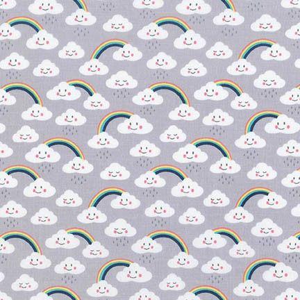 Daydreamer Clouds Grey by Robert Kaufman Fabrics 100% Cotton