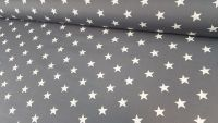 White Stars on Dark Grey by Rose & Hubble 100% Cotton