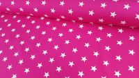White Stars on Cerise Pink by Rose & Hubble 100% Cotton