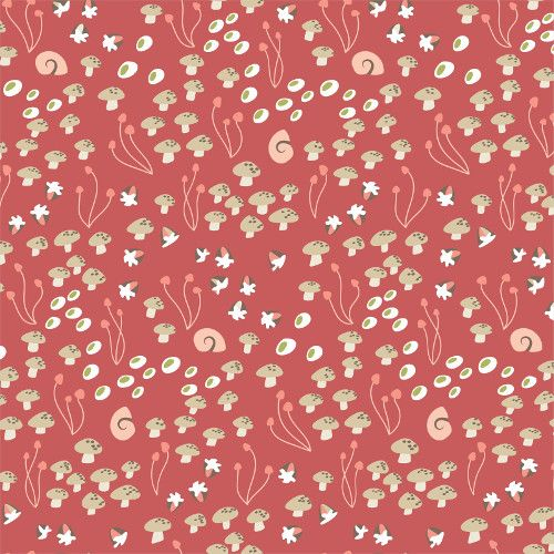 Underwood Stories Shrooms in Bloom Summer by Cloud 9 Fabrics 100% Organic C