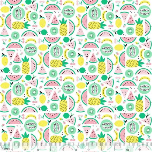 Fruitopia Fruit Punch White by Blend Fabrics 100% Cotton