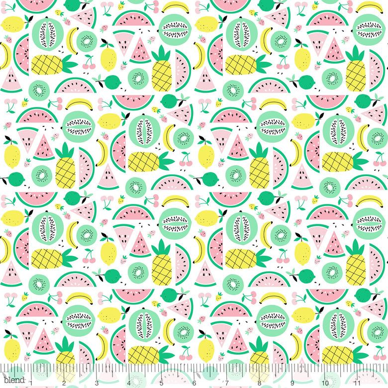 Fruitopia Fruit Punch White by Blend Fabrics 100% Cotton