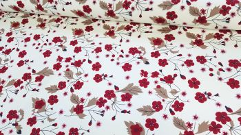 Arabella Floral Ivory by Rose & Hubble 100% Cotton