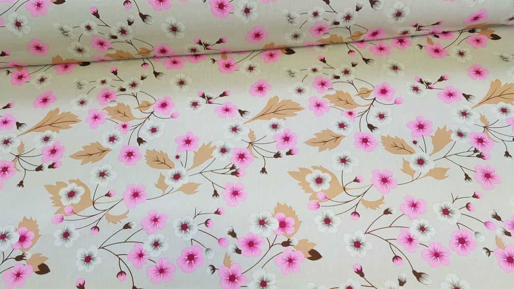 Arabella Floral Beige by Rose & Hubble 100% Cotton