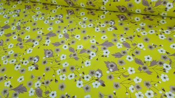 Arabella Floral Green by Rose & Hubble 100% Cotton