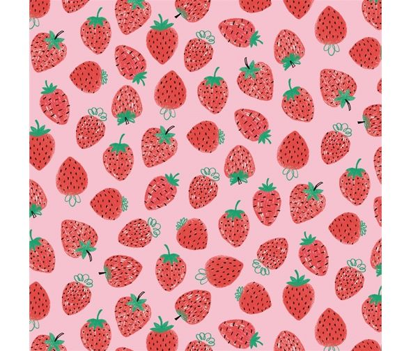 Summerlicious Strawberries by Studio E Fabrics 100% Cotton