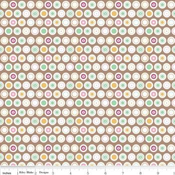 Flower Patch Dots by Riley Blake Designs 100% Cotton 52 x 54 cm