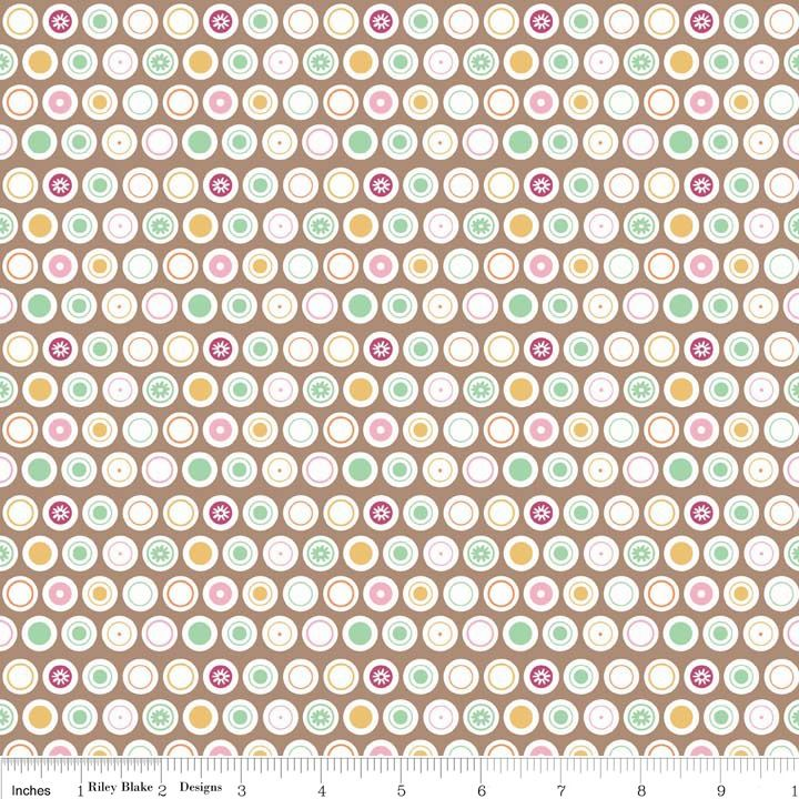 Flower Patch Dots by Riley Blake Designs 100% Cotton 52 x 54 cm