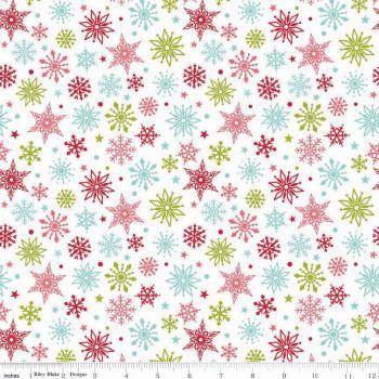 Merry Matryoshka Snowflakes Multi by Riley Blake Designs 100% Cotton 45 x 109 cm