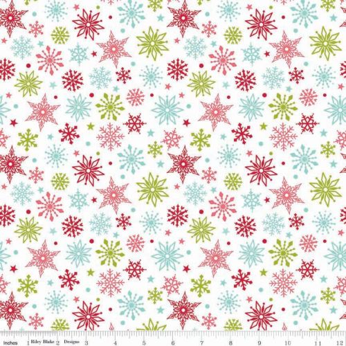 Merry Matryoshka Snowflakes Multi by Riley Blake Designs 100% Cotton 45 x 1