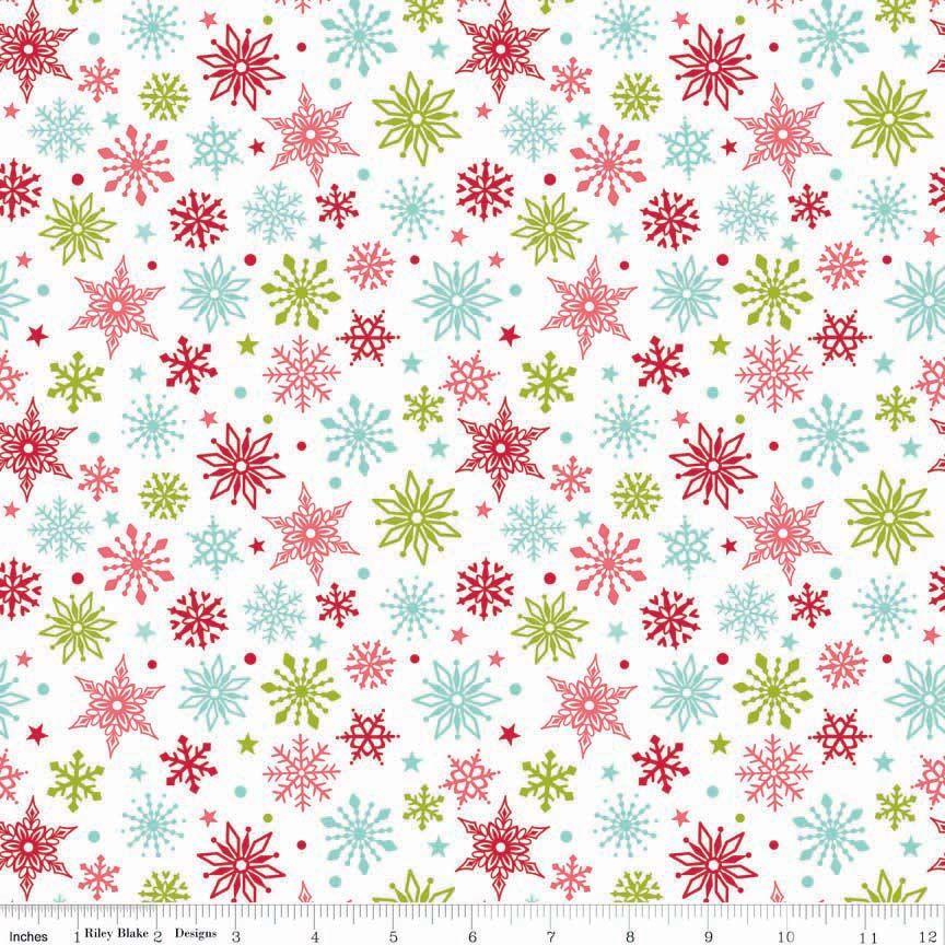 Merry Matryoshka Snowflakes Multi by Riley Blake Designs 100% Cotton 45 x 1