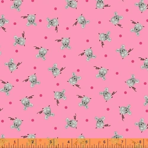 Julia by Whistler Studios Mice Pink by Windham Fabrics 100% Cotton