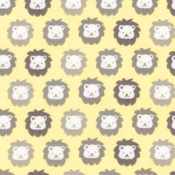 Cozy Cotton Flannel Yellow Lions by Robert Kaufman Fabrics