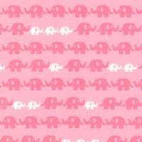 Cozy Cotton Flannel Pink Elephants by Robert Kaufman Fabrics