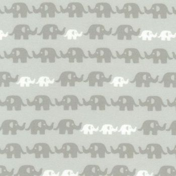 Cozy Cotton Flannel Grey Elephants by Robert Kaufman Fabrics