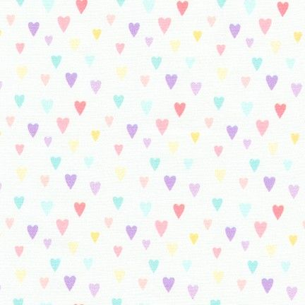 Chasing Rainbows Rainbow Hearts Stars by Robert Kaufman Fabrics 100% Cotton