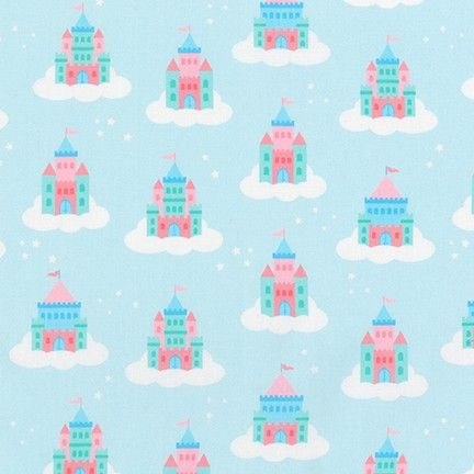 Chasing Rainbows Castles on Clouds by Robert Kaufman Fabrics 100% Cotton